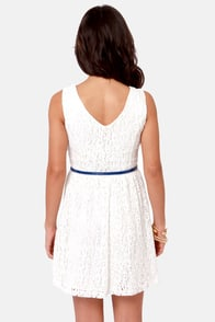 Fun in the Sun Ivory Lace Dress at Lulus.com!