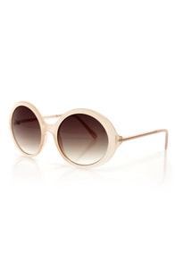 See the Light Blush Sunglasses at Lulus.com!
