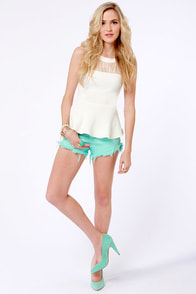 Billabong Laneway Mint Cutoff Shorts at Lulus.com!