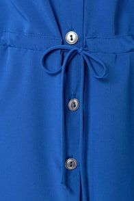 Lucy Love Celeste Royal Blue Shirt Dress at Lulus.com!