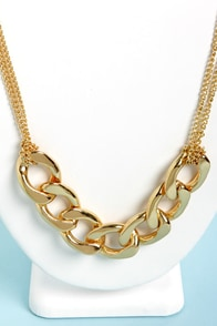 Chain-ge Your Mind Gold Chain Necklace Set at Lulus.com!