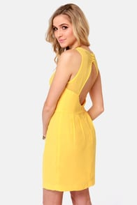 Aryn K Zest and Brightest Yellow Dress at Lulus.com!