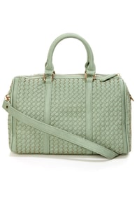Even Weavin's Sage Green Handbag by Urban Expressions