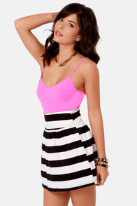 Volcom Sunbleached Neon Pink Bustier Top at Lulus.com!