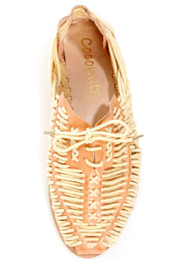 Coconuts Fodder Natural Woven Huarache Lace-Up Flats at Lulus.com!