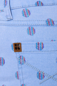 Insight Hokey Pokey Blue Print Shorts at Lulus.com!