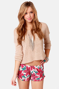 Billabong Durant Pull-On Floral Print Shorts at Lulus.com!