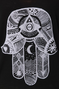 Billabong Eye Sea Black Print Tank Top at Lulus.com!