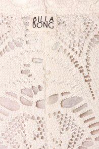Billabong Short End Cream Lace Shorts at Lulus.com!