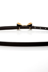 Good to Bow Black Skinny Belt at Lulus.com!