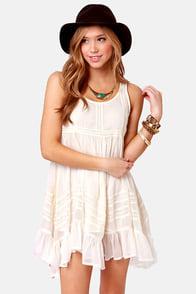 Billabong Ever So Sweet Cream Babydoll Dress