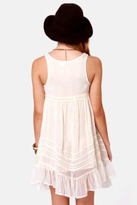 Billabong Ever So Sweet Cream Babydoll Dress at Lulus.com!