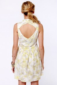 O'Neill Mandy Ivory Print Dress at Lulus.com!