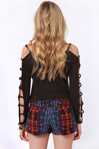 Gypsy Junkies Ashton Print Jean Shorts at Lulus.com!