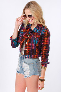 Gypsy Junkies Demi Print Denim Jacket at Lulus.com!