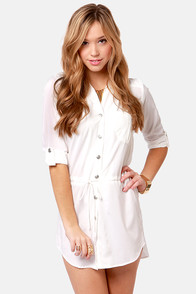 Lucy Love Celeste Ivory Shirt Dress