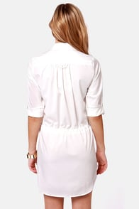 Lucy Love Celeste Ivory Shirt Dress at Lulus.com!