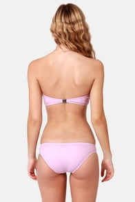 Insight Midi Stripe Lavender Bustier Bikini at Lulus.com!