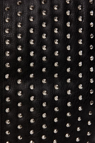 Steve Madden BDulcie Studded Black Tote at Lulus.com!