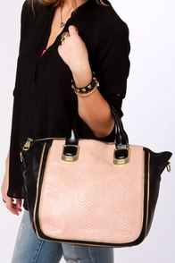 Steve Madden BGambet Blush and Black Tote at Lulus.com!