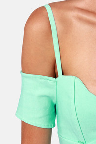 Strappily Ever After Off-the-Shoulder Mint Dress at Lulus.com!
