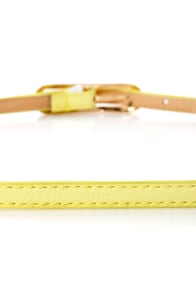 Oval Office Pale Yellow Skinny Belt at Lulus.com!