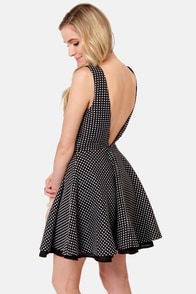 In Spot Pursuit Black Polka Dot Dress at Lulus.com!