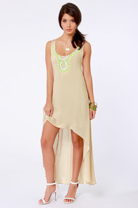 Bombay-b-cakes Beaded Beige Dress at Lulus.com!