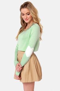 Hearts-ichord Mint Green Long Sleeve Top