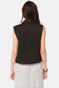Obey Washed Up Dark Brown Vest at Lulus.com!