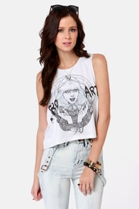Obey Pro Art Craft Off-White Muscle Tee at Lulus.com!