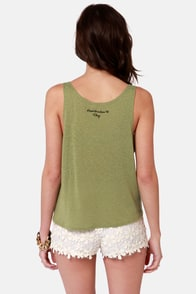 Obey 89 Heartbreakers Nubby Green Tank Top at Lulus.com!