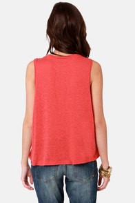 Obey Beer Me Nubby Mineral Red Muscle Tee at Lulus.com!