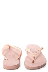 Havaianas Slim Rose Flip Flops at Lulus.com!