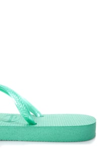 Havaianas Slim Pool Green Flip Flops at Lulus.com!