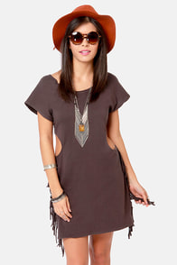RVCA Tempting Washed Black Cutout Dress at Lulus.com!