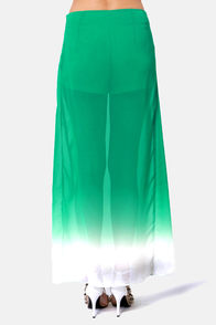 Ombre-king Dawn Green Ombre Maxi Skirt at Lulus.com!