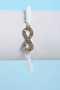 Endless Love White Infinity Bracelet at Lulus.com!
