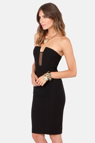 LULUS Exclusive Hot Child in the Midi Strapless Black Dress at Lulus.com!