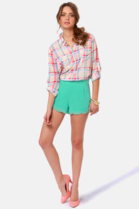 Bead-ness as Usual Beaded Mint Green Shorts at Lulus.com!
