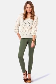 Opening Statement Knit Beige Sweater at Lulus.com!