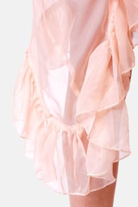 Gypsy Junkies Poppy Sheer Pink Silk Dress at Lulus.com!