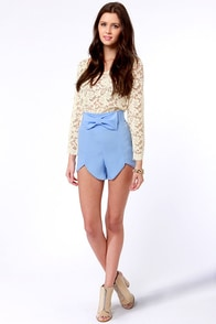 All Systems Bow Periwinkle Blue Shorts at Lulus.com!