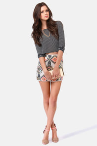 Now You See Me Sequin Mini Skirt at Lulus.com!