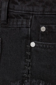 Insight Dipper Floyd Black Cutoff Jean Shorts at Lulus.com!