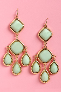 Lend Me Your Chandelier Mint Green Earrings