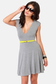 V-ing is Believing Grey Dress