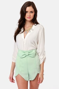 All Systems Bow Sage Green Shorts