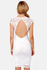 LULUS Exclusive Lace Your Bets Ivory Lace Midi Dress at Lulus.com!