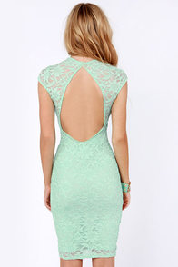 LULUS Exclusive Lace Your Bets Mint Green Lace Midi Dress at Lulus.com!